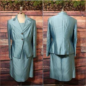 Talbots 2 piece evening dress jacket suit set